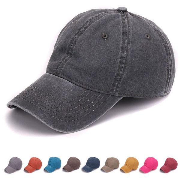 Yeni Moda Düz boyalı kum yıkanmış yumuşak pamuk kap boş beyzbol kapaklar baba şapka erkekler için hiçbir nakış erkek kap şapka ve kadınlar