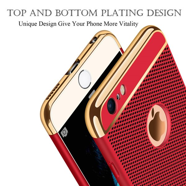 Luxury Phone Case For iPhone 6 Plus 3in1 Hollow Design Hard PC Shockproof For iPhone 7 7pls Case Back Cover Bags Fu