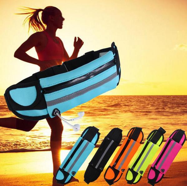 Corrida à prova d 'água Esporte Runner Bum Bag Correndo Cinto de Jogging Bolsa Zip Fanny Pack Packs de Fitness 50 pcs OOA3757