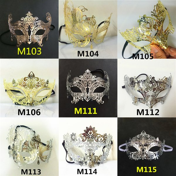 43f97494838 Wholesale- Wholesale A variety of shapes and colors Vintage metal laser  cutting Phantom Halloween Mask