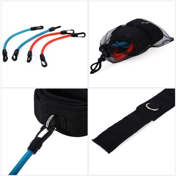 Adjustable Leg Strength Resistance Kinetic Tube Bands Training Workout Fitness for Kick Boxing Thai Punch