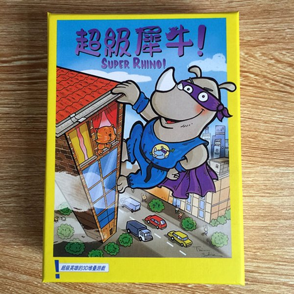 Super Rhino Board Game 2-5 Players Funny Cards Games High Quality Paper Game For Party/Family With Free Shipping