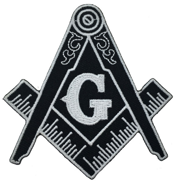 Hot Sale!Masonic Compass Patch Embroidered Iron-On Clothing Freemason Lodge Emblem Mason G Badge Sew On Any Garment Free Shipping