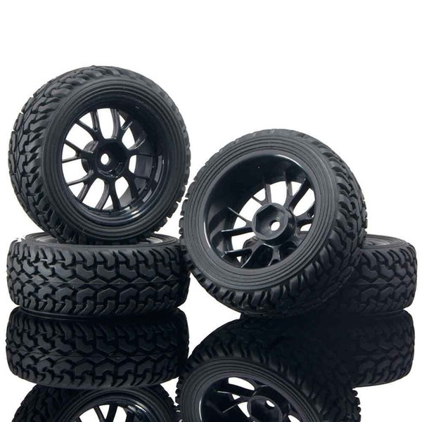 RC HSP 907B-8019 Cerchioni per pneumatici da rally neri 4P per auto da rally su strada 1:10