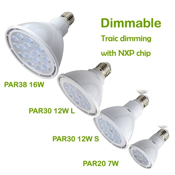 O alumínio de giro SMD3030 pode ser escurecido 7W 12W 16W PAR20 PAR30 O diodo emissor de luz de PAR38 projeta o bulbo para a luz da trilha ou o dispositivo elétrico claro