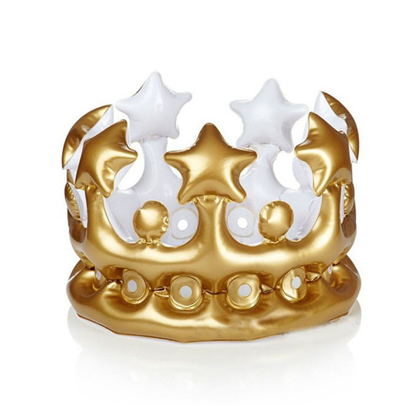 Creative Inflatable Crown Balloon Kids Birthday Party Hats DIY Inflated Cosplay Tools Stage Props Party Supplies ZA3867