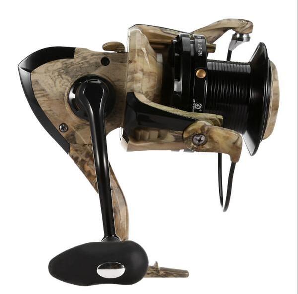 TSY 12 + 1 Ball Bearings Distant Wheel Spinning Fishing Reel Full Metal CNC Handlebar Desert Camouflage Fish Reel