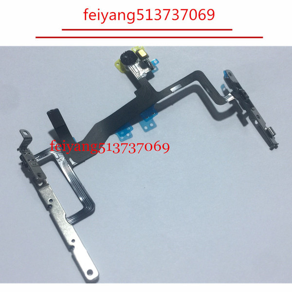 100pcs 100%Original or High quality For iPhone 6S 4.7inch Power Button On/Off Button Flex Cable With Metal Plate