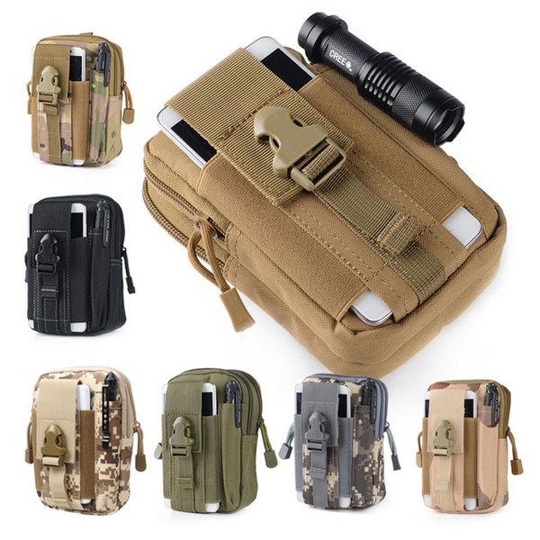 top popular Unisex Outdoor Sport Casual Tactical Belt Loops Waist Bag Molle Military Waist Fanny Pack Smartphone Mobile Phone Case 2509001 2021