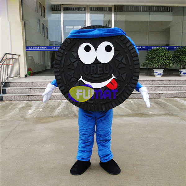 FUMAT Cookie Lovely Garment Festive Mascot Costume Clothing Costume Dessert Cartoon Cloth Cute Cookie Mascot With fan Picture Customization