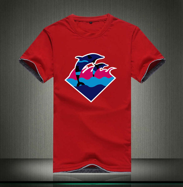 free shipping Q122 Pink Dolphin T-Shirts s-5xl Men Clothes Solid Color Fit Men Cotton tops Casual