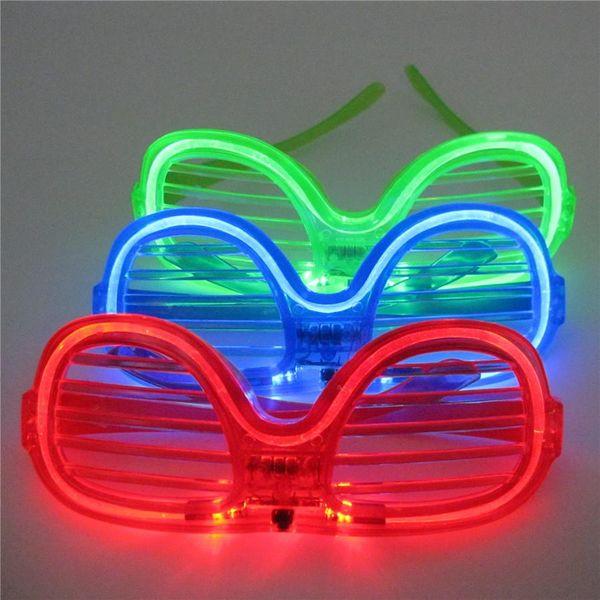 Светодиодные светоизлучающие очки жалюзи Жалюзи очки ночной клуб бар прыжки Рождественская вечеринка поставки оптом