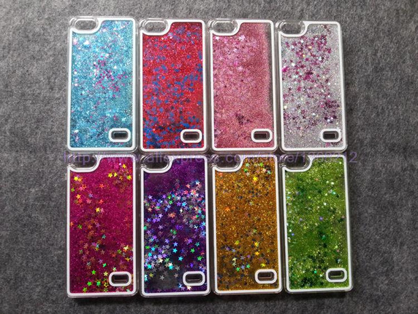 Wholesale- Transparent Dynamic Liquid Glitter Star Paillette Sand Quicksand Star Case for Huawei Honor 4C /Huawei 4C Back Cover Phone cases