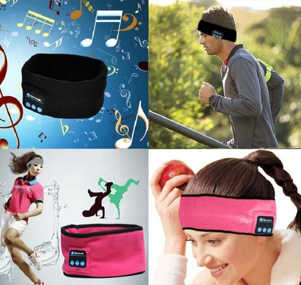 Kablosuz Bluetooth Spor Bandı Kulaklık Ter Emilim Kap müzik Şapka Müzik Uyku Bandı Uyku Kulaklıklar
