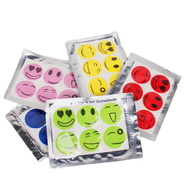 best selling 1 Sheet Anti-Mosquito sticker Cartoon Smile stickers Mosquito insect Repellent Patches Mosquito Killer No Chemical stickes fast delivery