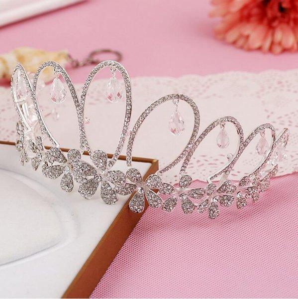 Free Shipping Rhinestone Crystal Wedding Party Prom Homecoming Crowns Band Princess Bridal Tiaras Hair Accessories Fashion LD521