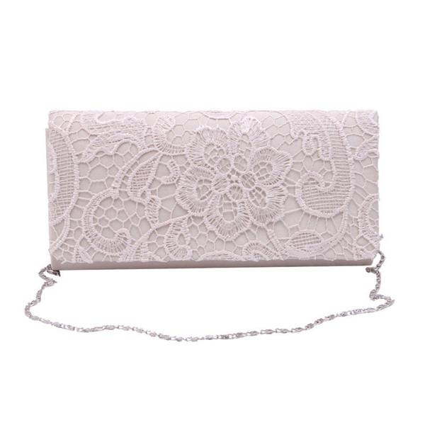 Großhandels- Frauen-Damen-Spitze-Blumensatin-Partei-Abend-Kupplungs-Hochzeits-Brautgeldbeutel-Beutel-Kurier-Schulter-Partei-Mädchen-Handtaschen