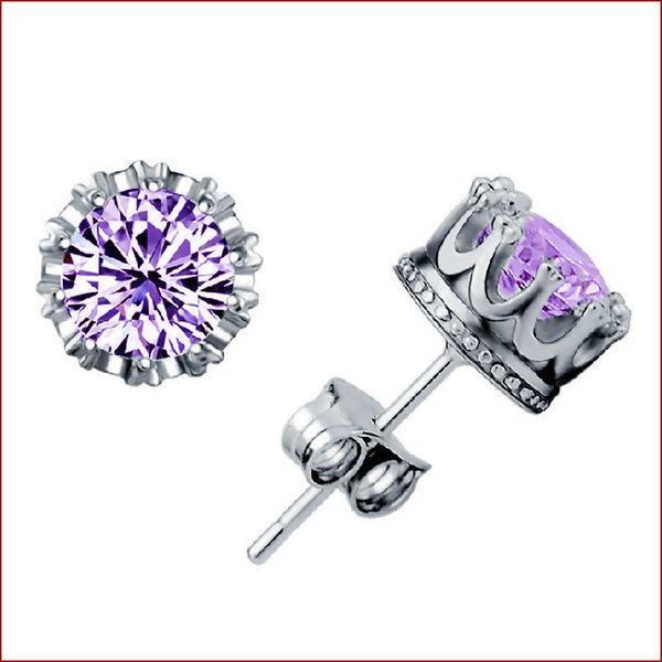 Purple CZ + Silver