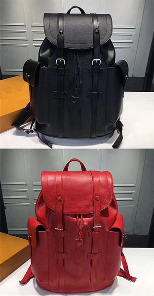 2017 Authentic Quality Luxury Backpack Travel Leather Men Women Backpacks Authentic Quality 35x12x45 cm Back Bags LVS School Packs