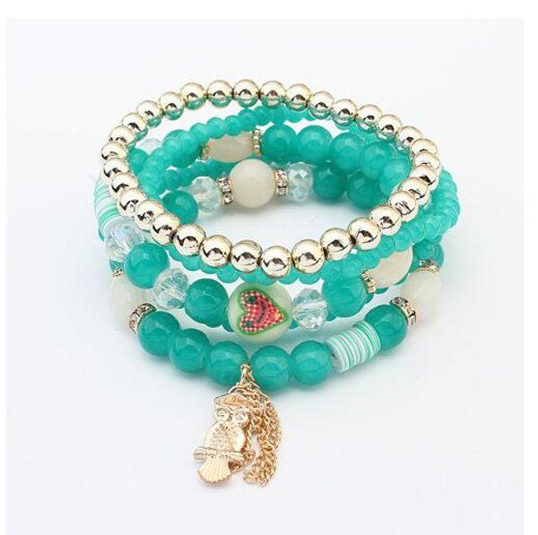 Wholesale- 2016 New Design Summer Style Fashion Tassel Pendant Colorful  Bracelet Jewelry For Women Friendship Bracelet Y8839