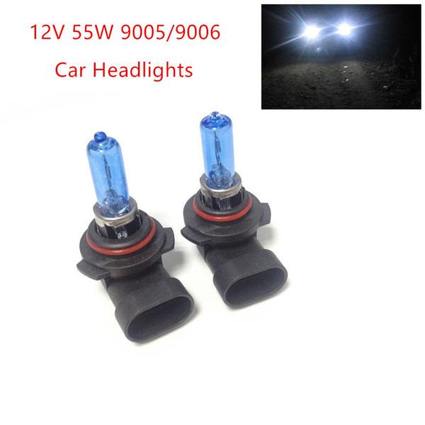 top popular New 2pcs 12V 55W 9005 9006 Ultra-white Xenon HID Halogen Auto Car Headlights Bulbs Lamp Auto Parts Car Light Source Accessories 2019