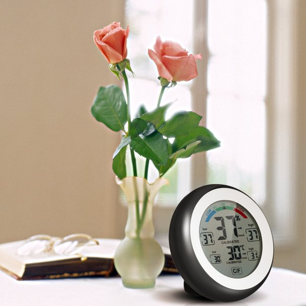 New Digital Thermometer Hygrometer practical Temperature gauge Humidity Meter clock wall Max Min Value Trend Display C/Funit