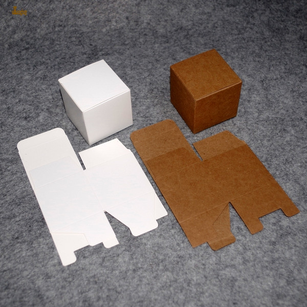 Cinta Aislante 50pcs/lot 8x8x6cm~8/10/12cm Mini Size Kraft Paper Box Diy Lipstick Perfume Essential Oil Bottle Packaging Boxes Craft Package