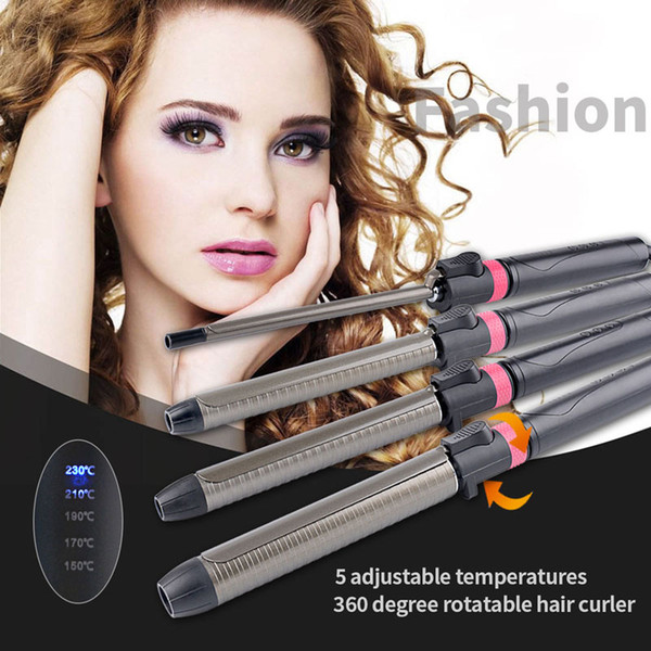 Ckeyin 9/22/25 / 32mm Bigodino di Capelli Curling Iron Wand Pinza Digital Wave 360 Girevole Riscaldamento Veloce Hair Styling Tool Styler Clip 50