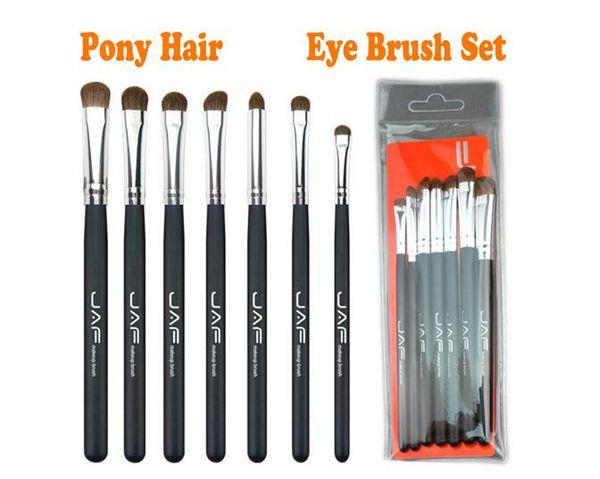 7 unids / set Pinceles de Ojos Set Pink Makeup Brush Sets kit de pinceles de maquillaje Natural JAF Eye Shadow Brushes herramientas de maquillaje profesional