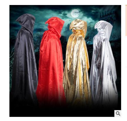 Capes Femmes Hommes Manteaux d'Halloween Capuche Nouveauté Noir Rouge Adulte Halloween Party Cosplay Costumes Accessoire Manteau Châle DHL 50 PCS Livraison Gratuite