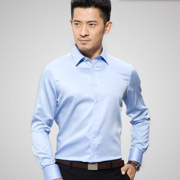 Newest design men shirt fashion men wedding dress shirt custom made poor color groom feast long sleeve tuxedos shirt