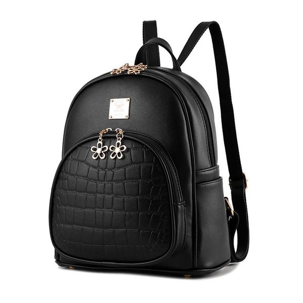 a3108824cf PU Leather Backpack New Shell Women s Bags Wave-Style Lady Shoulder Bag  Fashion School Travel