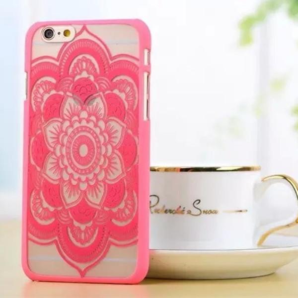 cassa del telefono vintage Fiore modello caso della copertura Beautiful Floral Paisley del hennè Mandala Palazzo del fiore TPU per iPhone 6 iphone 7 7plus DHL