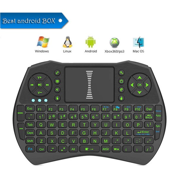 Portable mini keyboard Rii i9 Wireless bluetooth Keyboards Fly Air Mouse Multi-Media Remote Control Touchpad Game Handheld Android Box