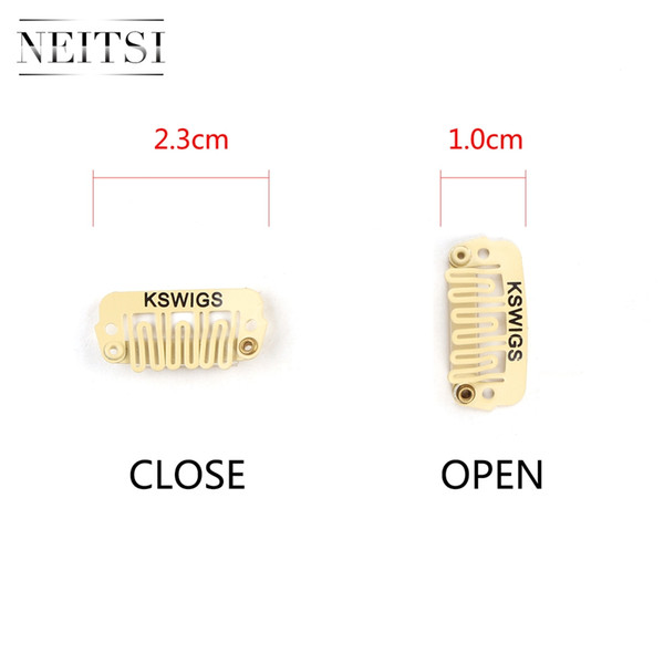 Neitsi Professional 2.3cm Metal U Shape Snap Clips Hair Tools For DIY Clip In Hair Extensions Blond# 50pcs/lot