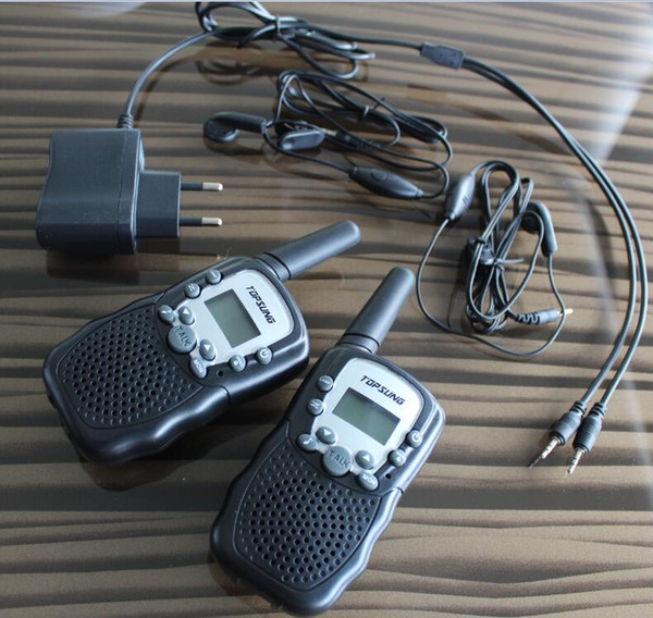 top popular Free shipping~ PMR mobile radio 3km walkie talkie pair T388 FRS VOX hand-free portable radios 99 private code w  led flashlight 2021