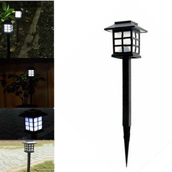 Wholesale- 4 Pcs 2016 Hot Waterproof Cottage Style LED Solar Garden Light Outdoor Garden Path Road Lawn Post Lamps Decoration Deck Lighting