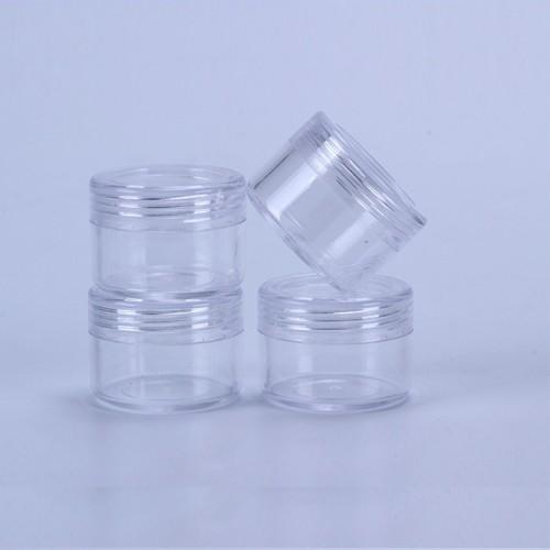 15 Gram Refillable Small Plastic Screw Cap Lid with Clear Base Empty Plastic Container Jars for Nail Powder Bottles Eye Shadow Container Lot