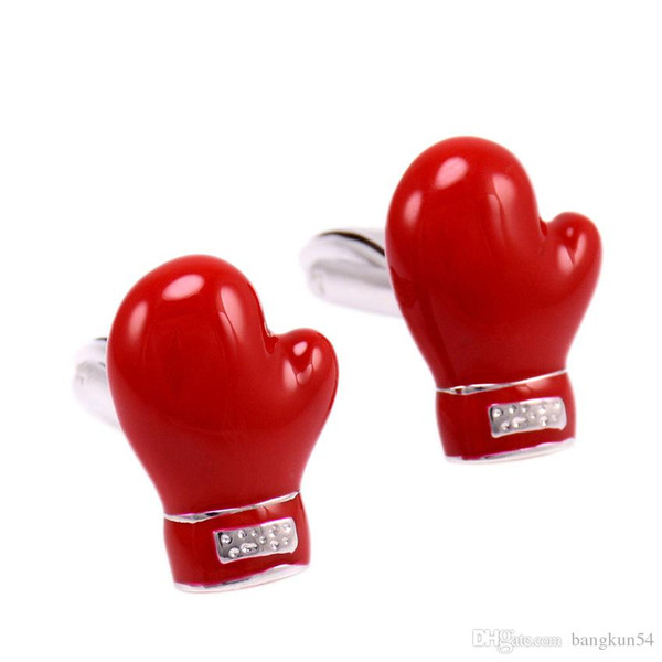 Free Shipping-Europe's most popular Boxing gloves red boxing cuff button