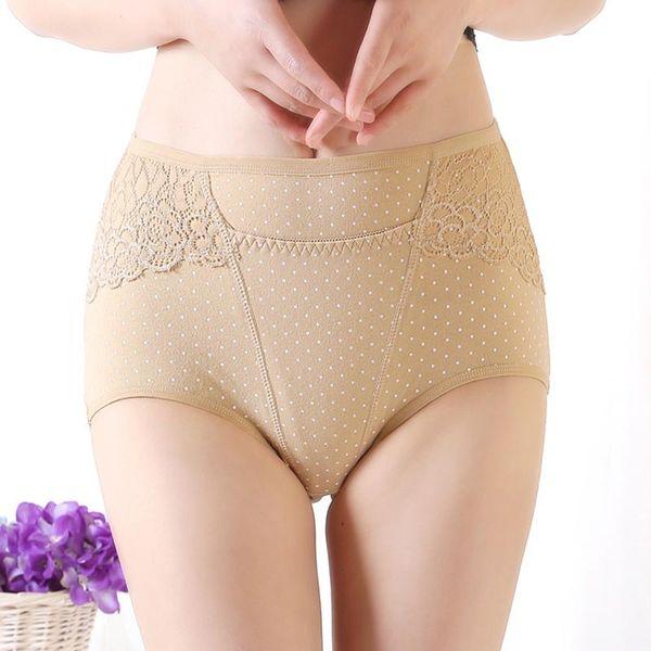 e300db394d4c High-Waist Pure Cotton Panties Large Size Briefs Women Underwear XL Size  Undies X-