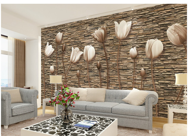 Large 3D Wall Murals Photo Wallpaper Flower for Living Room TV Background Wall Paper Floral papel para pared Customer