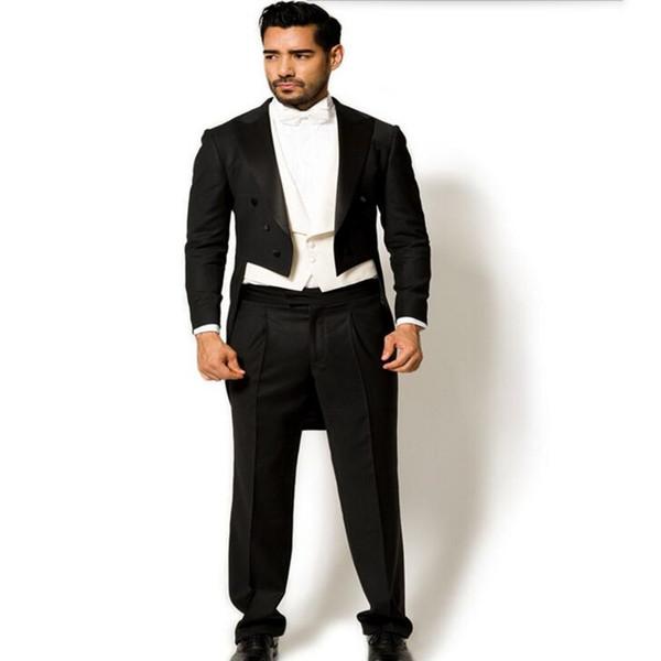 Hot Sale Wedding Groom suits Tuxedos elegant Gentleman tailor made Man Suit prom dinner suit tuxedos(Jacket +pants+vest)