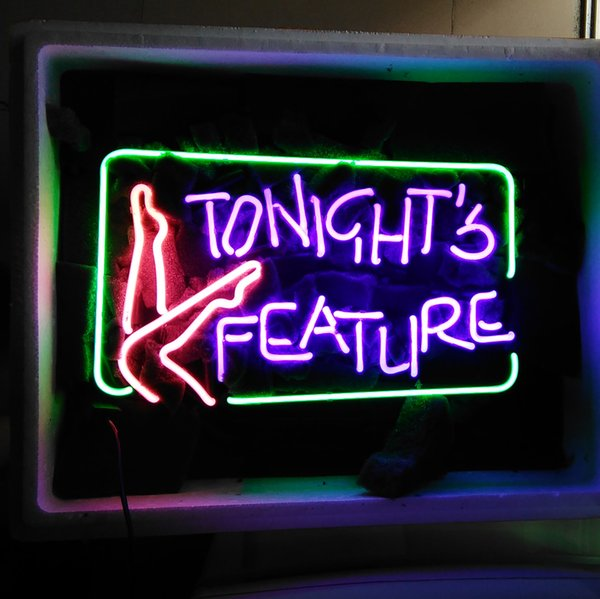 "17""x14"" TONIGHT'S FEATURE CUSTOM HANDCRAFT REAL GLASS TUBE NEON LIGHT BEER BAR PUB CLUB DISPLAY SIGN"