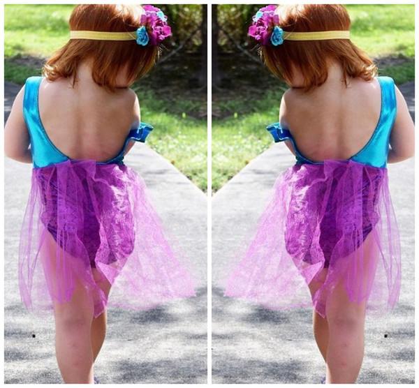 Baby Clothes Girls Swimsuit Swimwear 2017 Summer Grenadine Mermaid Skirt One-Piece Bathing Suit Kids Clothing XY157