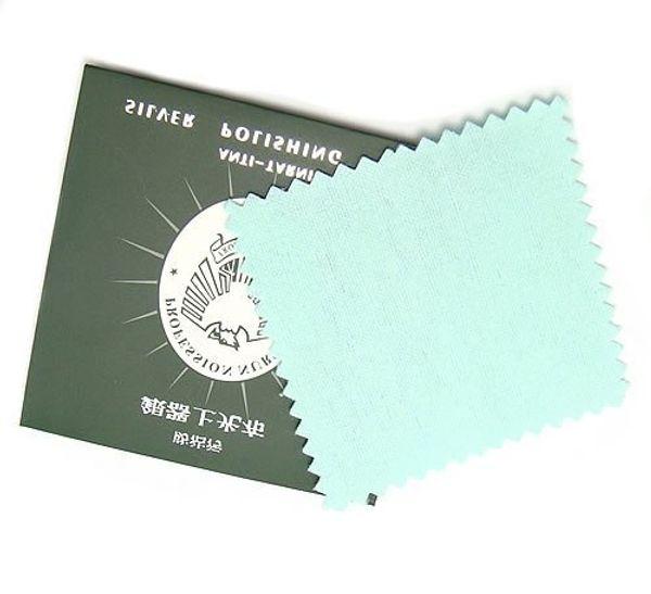10pcs / lot Gümüş Takı Temizleme Parlatma Bezi 925 Gümüş Takı Hediyelik 8x8cm CL01 Ücretsiz Nakliye