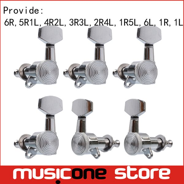 Chrome Locked String Left and right hand Guitar Tuning Pegs Folk Acoustic Electric Guitar Tuners Machine Heads