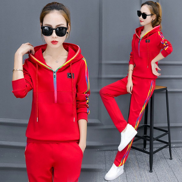 2017 Casual Pant Suits 2017 Spring Autumn High Quality Tracksuits ...