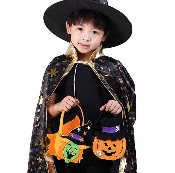 Il la cosa migliore 300pcs PIÙ NUOVI sacchetti di zucca della caramella del sacchetto di zucca dei sacchetti di Halloween Sacchetto portatile Lanterna portatile della zucca per Halloween Pasqua