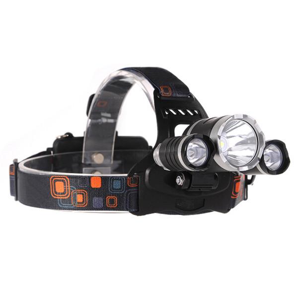 10PCS 5000 LM DEL Lampe Frontale Torche Tête avec 2x18650 Batterie Chargeur
