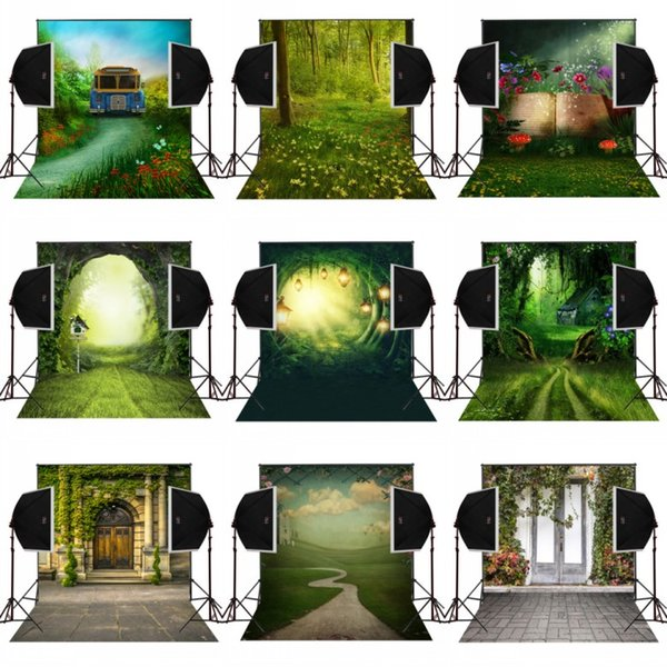best selling 5x7FT forest blossoms garden flpwers photography backdrops for wedding photos camera fotografica digital cloth sudio props photo background